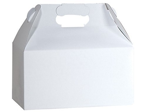 Gable Boxes, Large 9x6x6 Size - Gloss White Set of 6
