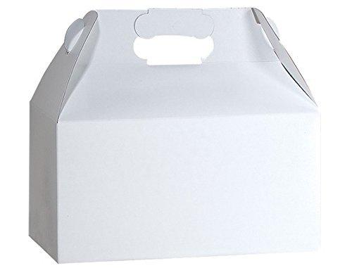 Gable Boxes, Large 9x6x6 Size - Gloss White Set of 6
