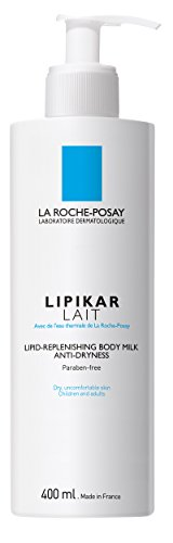 La Roche-Posay Lipikar Body Milk Lipid Replenishing Body Lotion with Shea Butter, 13.5 Fl. Oz.