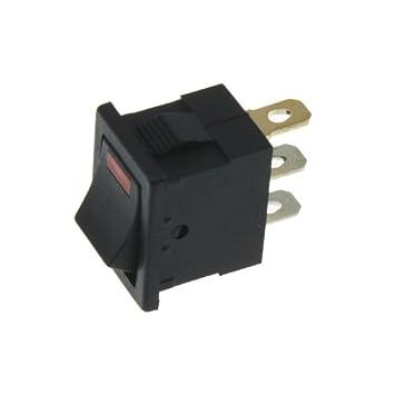 Schalter ein//aus 12V rot LED Spot Wippschalter
