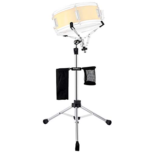 ROWELL Snare Drum Stand Lightweight Double Braced for 10-14 inch Snare Drum Practice Pad, Adjustable Height 29.5-51 inch with Portable Drum Sticks Bag and Storage Bag