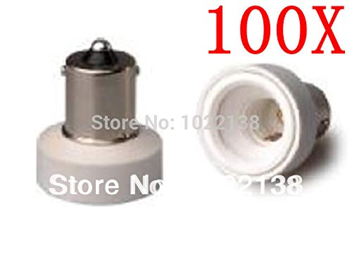 Halica 100pcs/lot BA15S to E12 LED bulb base socket adapter chandelier Lamp Holder adapter BA15S-E12 pendant lamp base Socket Converter