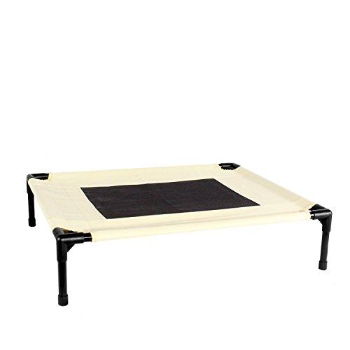Kopeks – Elevated Indoor Outdoor Portable Bed – Medium Size Beige Color