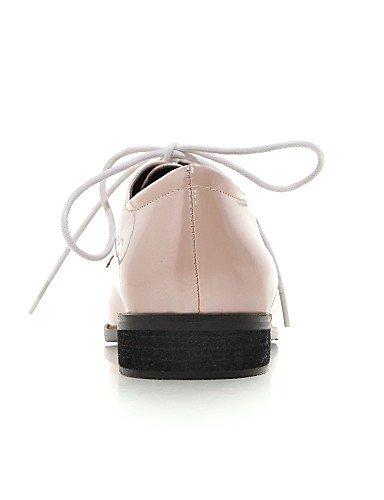 Bout Talon Chaussures Hug Amande Plat Eu35 Uk3 Femme Cn34 Noir Habillé Njx us5 Rose Similicuir Black Pointu Richelieu qg0zfWnY
