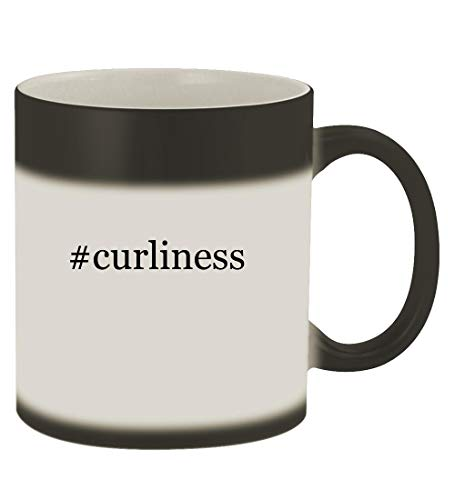 #curliness - 11oz Hashtag Magic Color Changing Mug, Matte Black