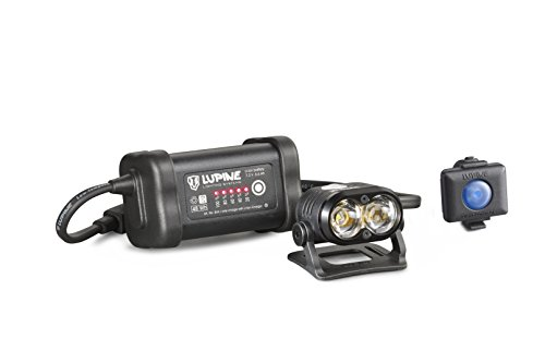 Lupine Lighting Systems Piko R 7 1800 Lumen 6.6 Ah SmartCore battery, 2x velcro, helmet mount with velcro, Wiesel charger, 120cm extension cable, pouch, Bluetooth R (2018 Model) by Lupine Lighting Systems