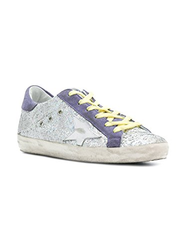GOLDEN GOOSE Zapatillas Para Mujer Plateado Plata It - Marke Größe