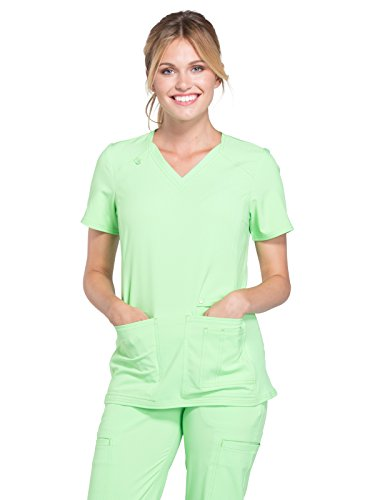 (Cherokee iFlex CK605 V-Neck Top Green Zen XL)
