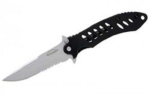 (Remington Cutlery R19073 F.A.S.T. Medium Folder Knife with Bead Blast Finish Serrated Blade, 4 1/8-Inch, Black)