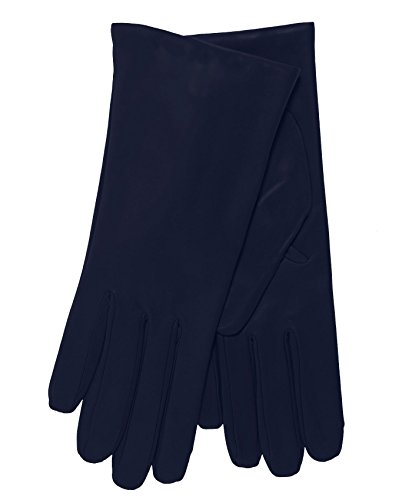 Fratelli Orsini Everyday Women's Italian Cashmere Lined Leather Gloves Size 9 Color Navy