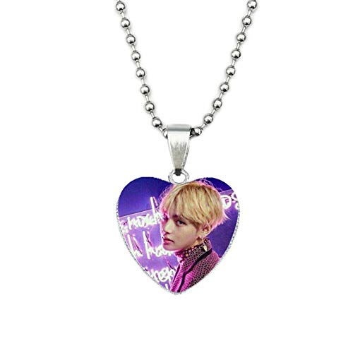 Nuofeng - Bracelet Pendant Love Necklace Photo Time Gem Jewelry Stainless Steel Chain Hot Gift for A.R.M.Y