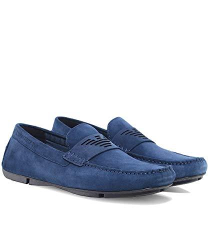 Hombres de 11 Armani Suede Zapatos Medianoche Conducción UK 8ScRRKwyp