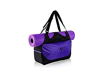 bf3793d3728d ATTOUPAN Comfort Yoga Mat Yoga Bag Gym Bag Sports Holdall Travel Weekender  Duffel Bag(Purple)  Amazon.co.uk  Office Products