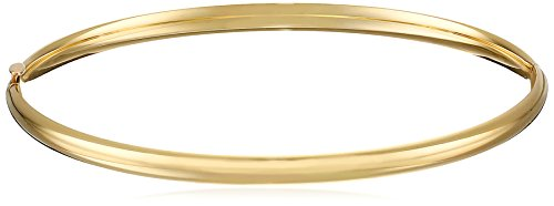 14k Yellow Gold Bangle Bracelet - 14k Yellow Gold Bangle Bracelet