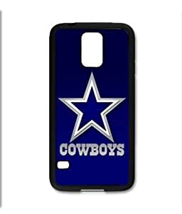 Samsung Galaxy S5 SV Black Rubber Silicone Case - Dallas Cowboys Footbal NFL