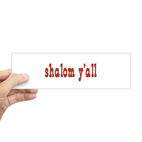(CafePress Greetings Shalom Y'all Bumper Sticker 10