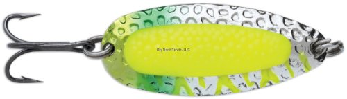 Pixee Spoons - Blue Fox Pixiee Spoon, 7/8-Ounce, Fluorescent Chartreuse UV