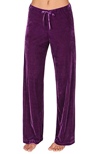 Addison Meadow Pajama Pants for Women Soft Pajama Bottoms, Purple, Small / 4-6