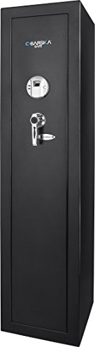 BARSKA New Large Quick Access Biometric Rifle Gun Safe Cabinet (13.75 in x 13.38 in x 57 in)