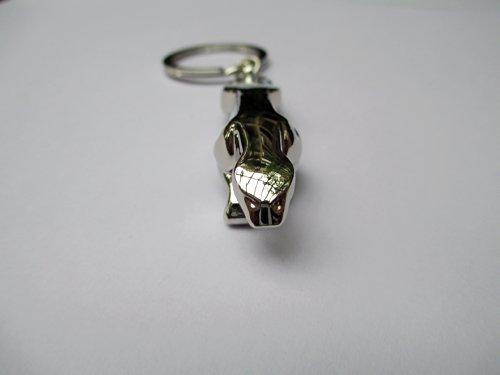 Jaguar Leopard shape Metal Key Ring Keychain Fob