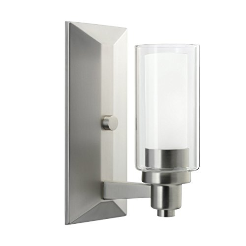 Brushed Nickel One Light Up Lighting Wall Sconce 6144NI Circolo Sconce Light