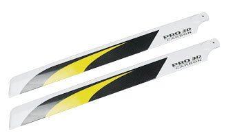 T-REX 500 RC Helicopters 430mm Carbon Fibre Main Rotor Blades (430 Mm Fiber Carbon)
