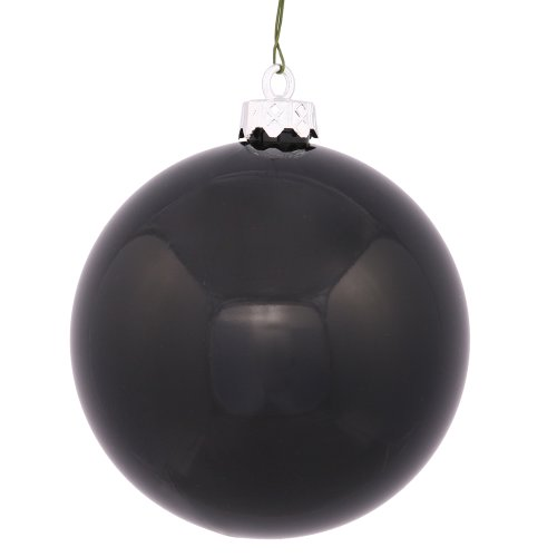 Vickerman Shiny Finish Seamless Shatterproof Christmas Ball Ornament, UV Resistant with Drilled Cap, 12 per Bag, 3
