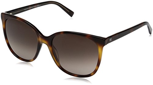 Tommy Hilfiger Women's Th1448s Square Sunglasses, Havana Yellow/Brown Gradient, 56 - Tommy Hilfiger Ladies Sunglasses