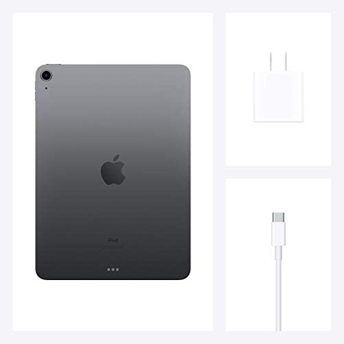 New Apple iPad Air (10.9-inch, Wi-Fi, 256GB) - Space Gray (Latest Model, 4th Generation) (Renewed)