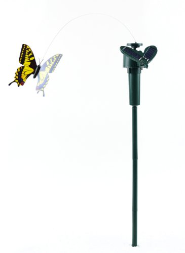 Touch of Nature 4-Piece Garden Solar Butterfly on Stake, ...