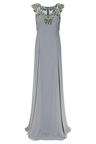 Stone mit Damen lange Style Dalas Kleid 1012725 Dynasty Schal Stone XzTx1g