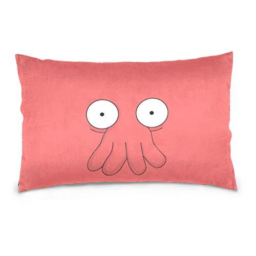 hengpai Futurama Doctor Zoidberg Long Pillowcases Cotton Velvet Decorative Pillow Cover for Couch Bedding -
