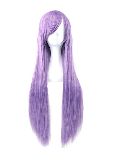Long Hair Wig for Women Heat Resistant Fiber Hairpiece Pink Gray Straight Cosplay Wigs,NC/4HL,32inches