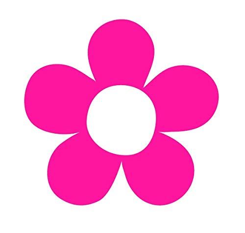 CRDesign Large Hippie Flower Floral Power Pink Sticker Decal for Car SUV Truck Laptop Window Bumper