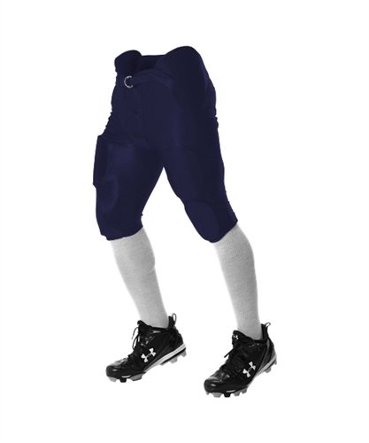 Alleson Youth Lightweight Integrated Football Pants - Navy - (Alleson Football Pants)