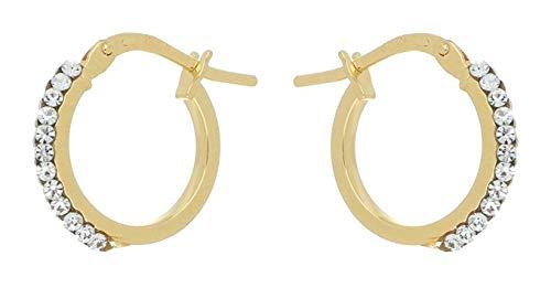 Pendientes de oro de 18 quilates redondos con Swarovski Pendientes de oro de 18 quilates redondos con Swarovski Pendientes de oro de 18 quilates redondos con Swarovski
