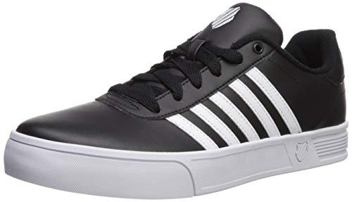 (K-Swiss Men's Court Lite Stripes Sneaker, Black/White, 10 M US)
