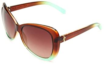 Electric Visual Women's Magenta Butterfly Sunglasses,Brown Mint Fade Frame/Brown Gradient Lens,One Size