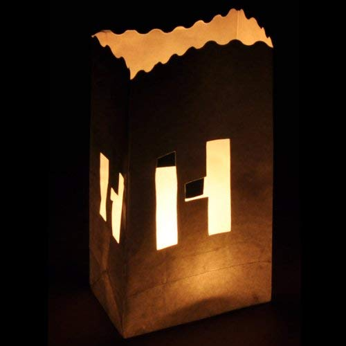 LETTER-H Luminary Candle Bag Individual Letters