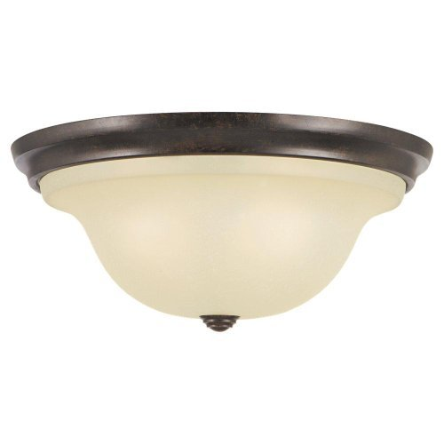 (Murray Feiss FM252GBZ Morningside Collection 3-Light Flush Mount, Grecian Bronze Finish with Cream Snow Glass Shade by Murray)