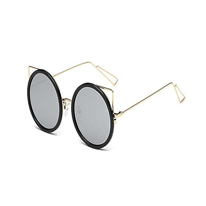 3204c20356453 ... Specchio Metallo Gatto Sole Donna Telaio Moda Carino Retro Occhiali Le Di  Protezione Uv400 Signore Vintage ...