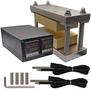 Tuopuke Gold Caged Cube Kits With Dual Solid 6061 Plates in Heat Cube, Dual Heaters, Dual Temp Sensors, Temperature Control Box (4inx6in)