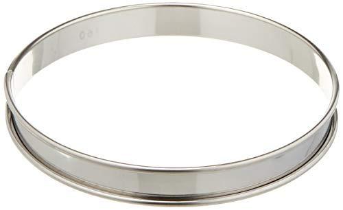 2 cm deep Matfer 371615 Plain Flan Ring Silver
