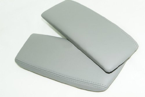 acura-rl-leather-taupe-gray-center-console-armrest-covers-leather-part-only