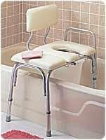 Deluxe Padded Bath - Vinyl-Padded Bathtub Transfer Benches - Deluxe with full seat