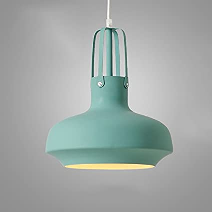 Araña colgante Lámpara de araña de hierro, moderno nórdico simple de la luz del restaurante