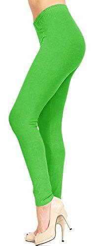 ViV Collection Full Length Women's Solid Color Brushed Leggings (XS – 2XL) 31jN6FWJzVL
