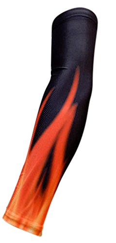 NEW! Moisture Wicking Compression Arm Sleeve (Flames/Fire, Youth Medium)