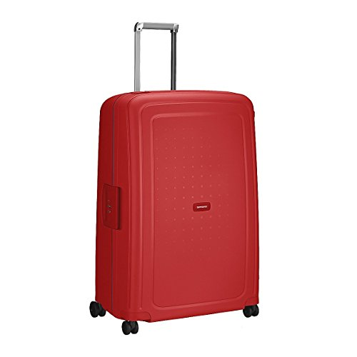 Samsonite S Cure Spinner 4-Rollen-Hartschalentrolley 81 cm poppy red