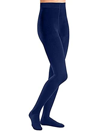 Carol Wright Gifts Fleece-Lined Tights, Color Navy, Size